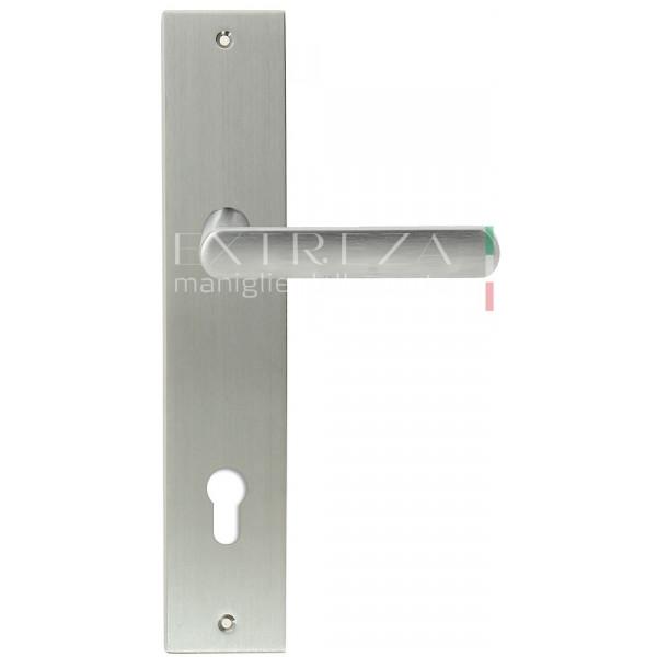 Дверная ручка Extreza Hi-tech AQUA (Аква) 113 на планке PL11 CYL матовый хром F05