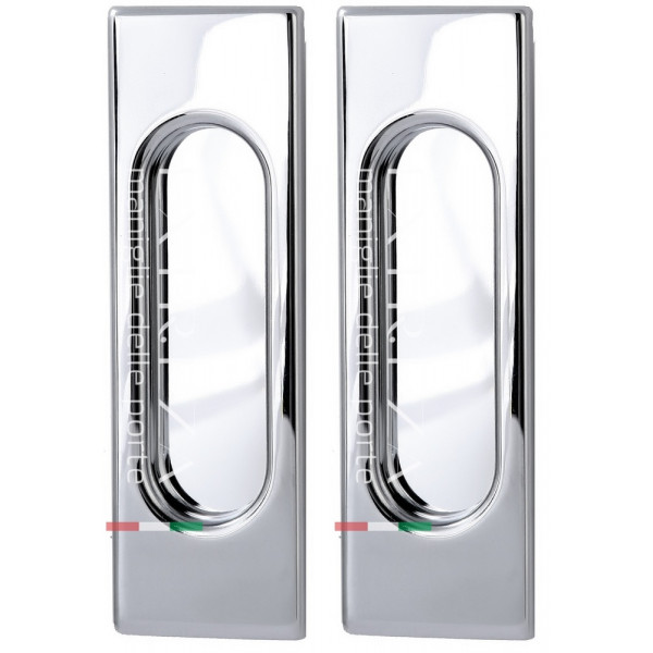 Дверная ручка Extreza Hi-tech P401 полированный хром F04